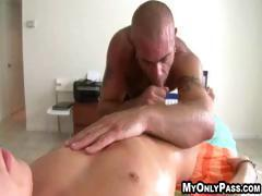 Big tattoed guy gets his hard cock in a tight ass