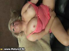 Thick mom with big natural tits fucking part1