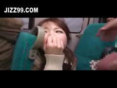 cute schoolgirl fucked on night bus