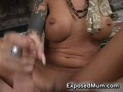 Round bigtits tattooed mom fireplace part4