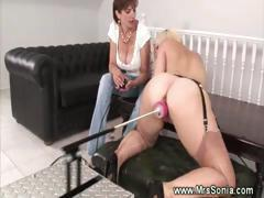 Mature lady takes control over a toy