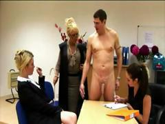 European femdoms get to work with a serious handjob