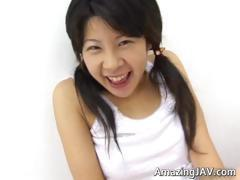 Horny japanese teen masturbating video part6