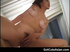 Sexy asian babe gets her tight pussy part4
