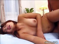 Naughty Seira Minami gets nailed with cum on her ass!