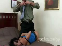 Nice Asian split-tail with an unjust love box, Gaia, gets a brutal banging