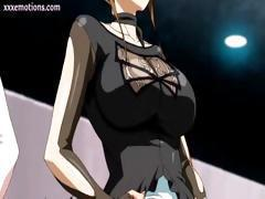 Busty anime babes are getting fingered and fucked from behind