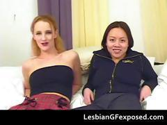 Toying lesbian girlfriends with strapons part5