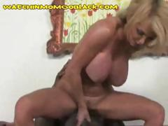 Moral mature madam with a blonde rotten bush squeals form a black dick