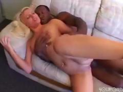 Blonde Holly gets a big black cock to eat and get drilled by