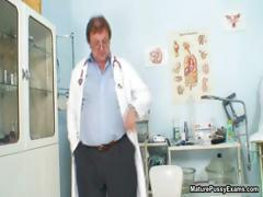 Horny doctor abused a mature blonde mom part6