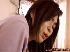 Japanese mature woman has cute part6