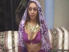 Horny real Arab slut gets her pussy part1