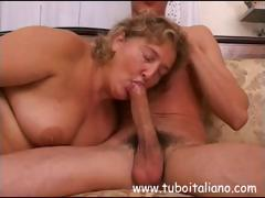 Adorable Italian MILF with a loose man's downfall devours her lover