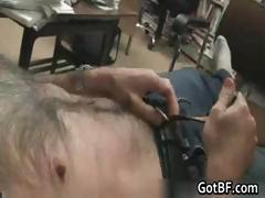 Very Hairy Guy Jerking Off 1 by GotBF part4