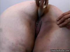 Fat old grandma gets her ass fucked part1
