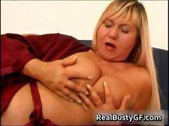 Busty mom on a hot dildo fucking session part2