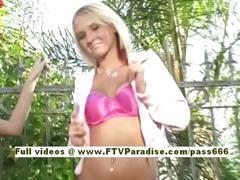 Alex Independent hot blonde babe in the garden
