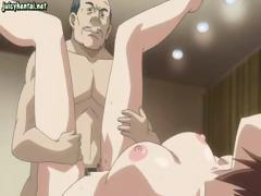 Siblings get serviced by two nasty guys and fill them with semen