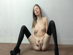 Thin Teen Touches Herself
