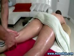 Gay masseuse slowly turns straight ass