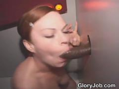 White Girl Loves Sucking Black Cock At Glory Hole
