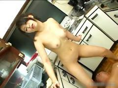 Yuuka Tsubasa hot kitchen blowjob part1