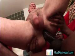 Bobby asshole destroyed in interracial gay porn part4