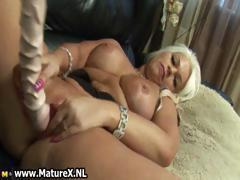 Thick blonde mom loves playing part6