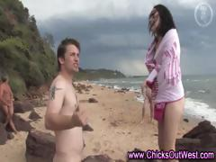 Real naked amateurs outdoor beach play
