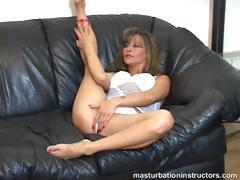 Jerk off teacher spreads her legs and starts teasing men to jerk off
