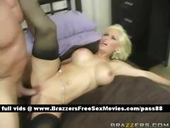 Mature naked blonde wife in bed gets her pussy fucked hard