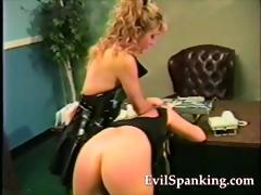 hard spanking blonde ass