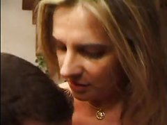 FRENCH MATURE n33 blonde anal mom in threesome