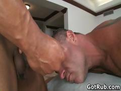 Sexy dude get his amazing body massaged part6