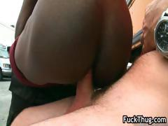 Thug fucks white dick outdoor part3