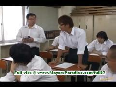 Moe kimishima hot asian teacher at school