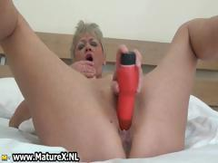 Horny blonde mature housewife sticks part6