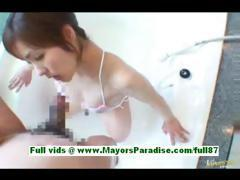 Nao ayukawa super sexy asian wife at home in the bathroom