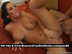Mature naked brunette wife in bed gets her wet pussy fucked
