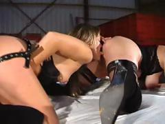 Two lovely French Amateurs get themselves in a huge kinky orgy