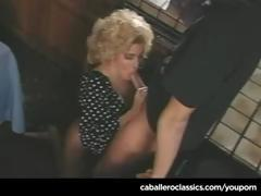 Samantha Strong is a curly blonde who gets fucked by her man