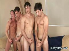 Super hot studs in gay foursome part1