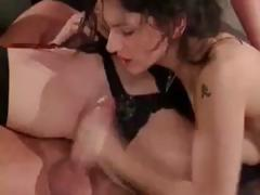 Slutty brunette chick Sibel Kekilli show her love for cum in this compilation