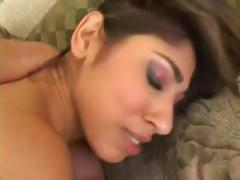 Sexy Latina Sahara gets some anal and DP action in a threesome
