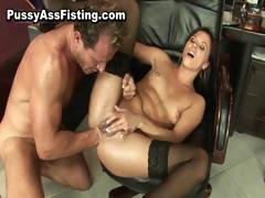 Horny slut gets her gaping asshole part3
