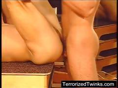 Twink take inches of pain in his ass and mouth
