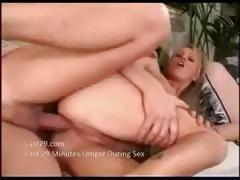 Slutty blonde Sharon Wild swallows his stiff rod and takes it in her booty hole