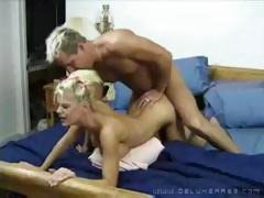 His nap is interrupted by a busty blonde wanting some fucking action