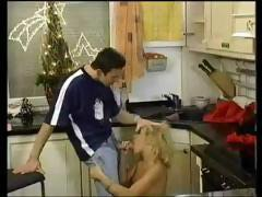 Hot blonde Dru Berrymore gets licked and fucked at the Christmas party